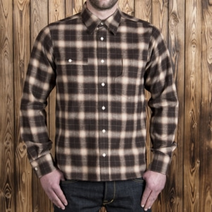 1937 Roamer Shirt brown beige check