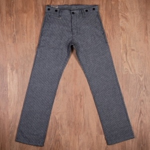 1942 Hunting Pant grey striped linen