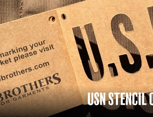 USN Stencil on N1 Deck Jacket